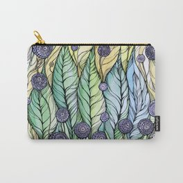 Dandelions.Hand draw  ink and pen, Watercolor, on textured paper Carry-All Pouch