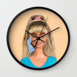 Quarantine Doll Wall Clock