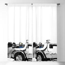 Delorean Low poly Blackout Curtain