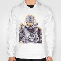 master chief Hoodies featuring Halo Master Chief by DeMoose_Art