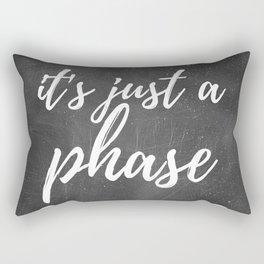 It's Just A Phase - Moon Art (Dark) Rectangular Pillow
