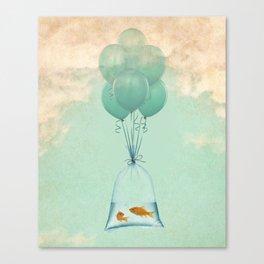 goldfish flight to freedom Canvas Print