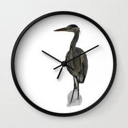 Grey Heron Wall Clock