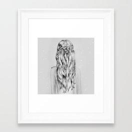 Braids Framed Art Print