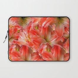 Pink & Red Amaryllis Patterns Floral Art Laptop Sleeve