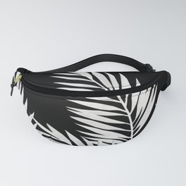 Palm Leaves White Fanny Pack