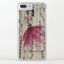 Pink Tulle and Bach Clear iPhone Case