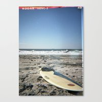 surfboard Canvas Prints featuring Surfboard by NoGoPhoto