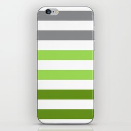 Stripes Gradient - Green iPhone Skin