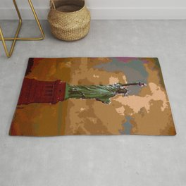 Lovely Lady Liberty (Painting) Rug