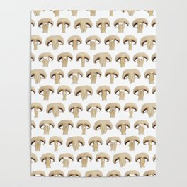 Many champignon slices pattern Poster