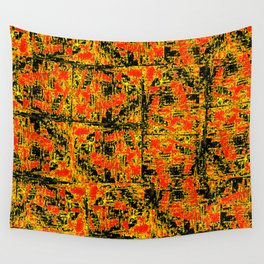 Golden Red Wall Tapestry