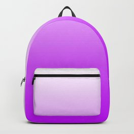 White and Magenta Gradient 041 Backpack