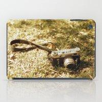 vintage camera iPad Cases featuring camera by inesmarinho
