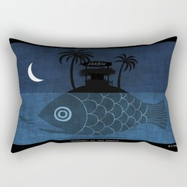"""Denpasar"" Illustration Toni Demuro Rectangular Pillow"