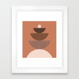 Abstraction_BALANCE_Bohemian_Minimalism_Art_001 Framed Art Print