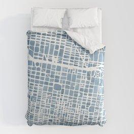 Philadelphia City Map Comforters