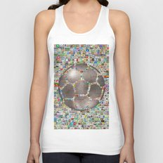Stamps Soccer Ball Unisex Tank Top