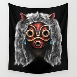 The Wolf Princess Wall Tapestry