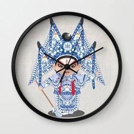Beijing Opera Character ZhaoYun Wall Clock