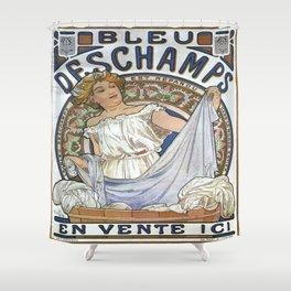 Vintage poster - Bleu Deschamps Shower Curtain