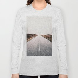 ROAD - HIGH WAY - LANDSCAPE - PHOTOGRAPHY - NATURE - ADVENTURE - SKY Long Sleeve T-shirt