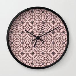 Rose Quartz Lace Wall Clock