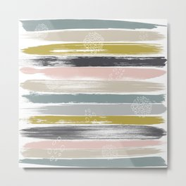 Fragments, Brushstrokes and Circles Metal Print