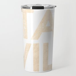 Stay Wild White Gold Quote Travel Mug