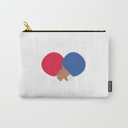table tennis bat and ball Carry-All Pouch