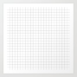 tiny checkered - tout petits carreaux Art Print
