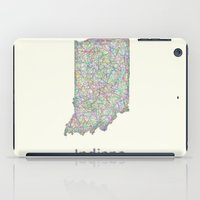 indiana iPad Cases featuring Indiana map by David Zydd