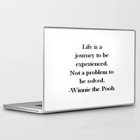 pooh Laptop & iPad Skins featuring Winnie the Pooh Quote by Scarlett Alaska