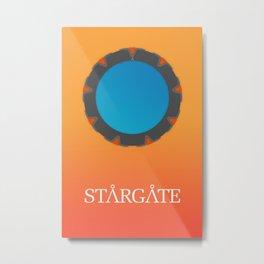 Minimal Stargate Metal Print