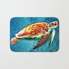 SEA TURTLE SWIMMING Bath Mat