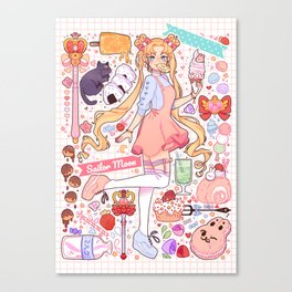 Sailor Moon sweets Canvas Print
