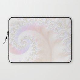 Ocean Treasure -- Mother of Pearls Mandelbrot Laptop Sleeve