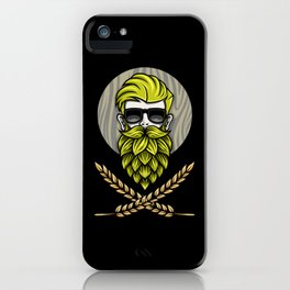 Green Hops Beard - Beer Style - Hops Fashion iPhone Case