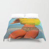 bikini Duvet Covers featuring Untitled (Bikini) by Charles Wilkin