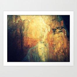 Textures 3 - Limestone Caverns Art Print