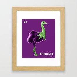 Ee - Emuplant // Half Emu, Half Eggplant Framed Art Print