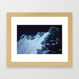 NATURE'S WONDER #2 - Glacier in the dark #art #society6 Framed Art Print