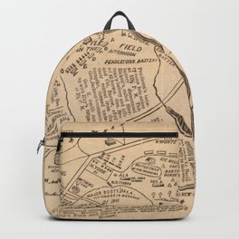 Vintage Map of The Battle of Bull Run (1861) Backpack