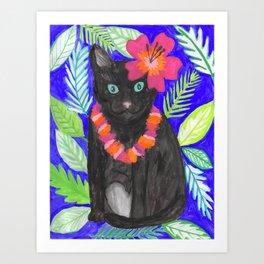 Hula Girl Frankie Art Print