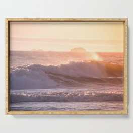 Ocean sunset Serving Tray