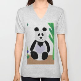 It's a Panda's World of Love Unisex V-Neck