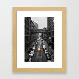 Iconic New York Cab Framed Art Print