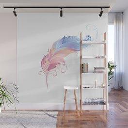 Elegant Powder Feather Wall Mural