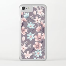 Floral Pattern#5 Clear iPhone Case