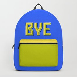 """""""BYE"""" 3D Letters (Bright Blue, Neon Yellow) Backpack"""